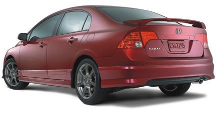 Rear Wing Spoiler Civic 374 85