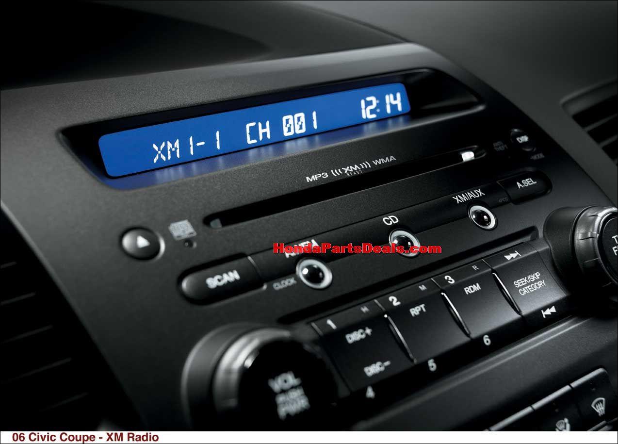 xm satellite radio civic